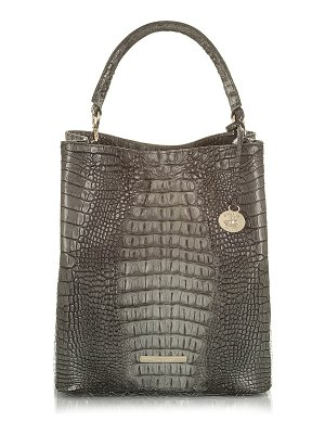 Brahmin amelia croc embossed leather tote