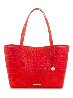 Brahmin athena croc-embossed leather tote