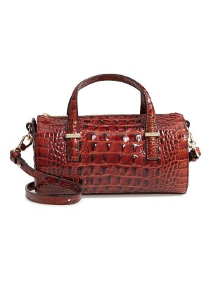 Brahmin claire croc embossed leather top handle bag