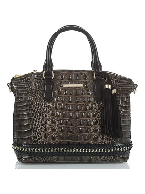 Brahmin duxbury chain trim leather satchel