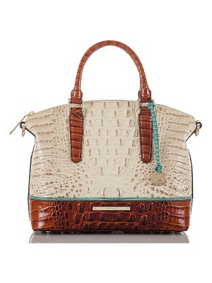 Brahmin duxbury embossed leather satchel