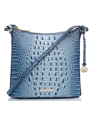 Brahmin katie croc embossed leather crossbody bag