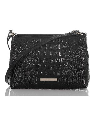 Brahmin lorelei croc embossed leather shoulder bag