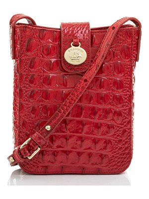 Brahmin marley croc embossed leather crossbody bag