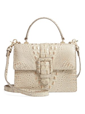 Brahmin mini francine croc embossed leather satchel