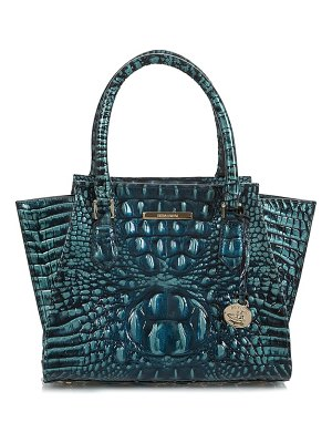 Brahmin mini priscilla croc embossed leather satchel