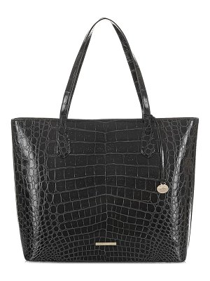 Brahmin misha croc embossed leather tote
