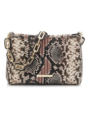 Brahmin mod lorelei snake embossed leather shoulder bag