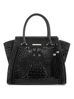 Brahmin priscilla croc embossed leather satchel