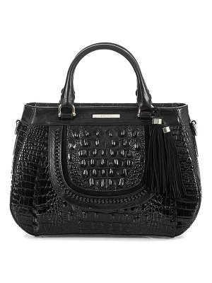 Brahmin raelynn croc embossed leather satchel