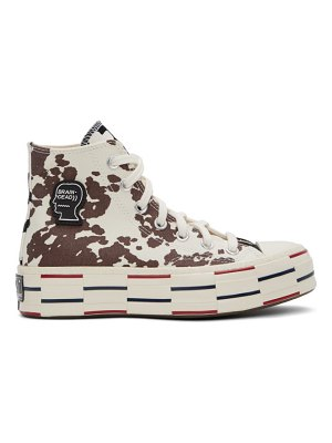 Brain Dead off-white and black converse edition cow chuck 70 high sneakers