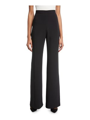 Brandon Maxwell Black Crepe Wide-Leg Pants