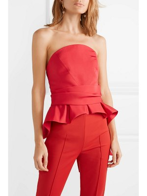 Brandon Maxwell bow-detailed silk-twill bustier top
