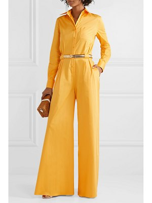 Brandon Maxwell cotton and silk-blend poplin jumpsuit