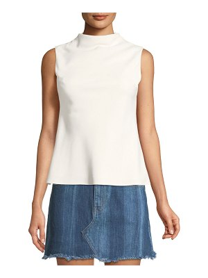 Brandon Maxwell Cowl-Neck Crepe Blouse
