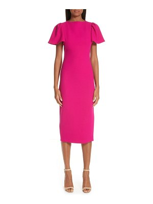 Brandon Maxwell flutter sleeve sheath dress