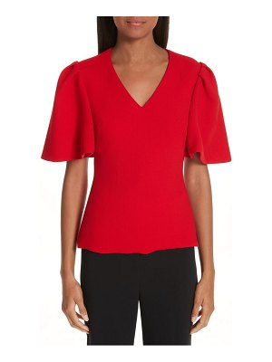 Brandon Maxwell flutter sleeve top