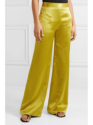 Brandon Maxwell hammered silk-satin wide-leg pants