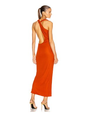 Brandon Maxwell one shoulder cocktail dress