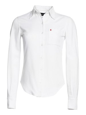 Brandon Maxwell riviera logo button-down shirt