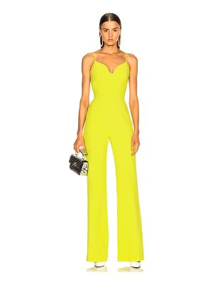 Brandon Maxwell Stretch Crepe Sweetheart Jumpsuit