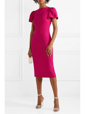 Brandon Maxwell wool-crepe midi dress