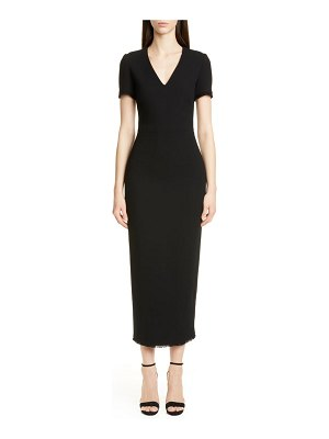 Brandon Maxwell wool crepe midi sheath dress
