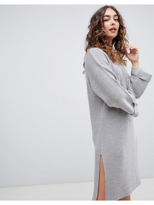 Brave Soul emily sweater dress with wide sleeves