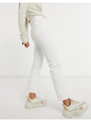 Brave Soul fran high waisted mom jeans in white-blue