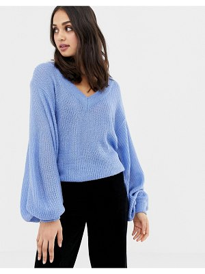 Brave Soul harrio v neck sweater with wide sleeves