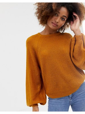 Brave Soul harrio crew neck sweater with wide sleeves