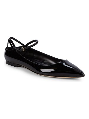 Brian Atwood Astrid Point Toe Patent Leather Flats