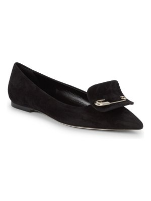 Brian Atwood Satin Point-Toe Ballet Flats