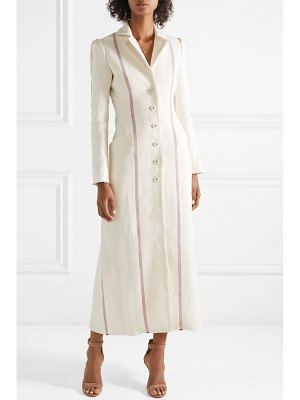 Brock Collection carolyn striped linen coat