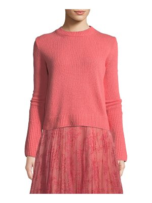 Brock Collection Cashmere Kendall Knit Crewneck Long-Sleeve Sweater