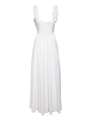 Brock Collection Cotton poplin gown w/ roses
