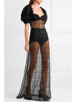 Brock Collection doda chantilly lace gown