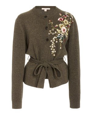 Brock Collection embroidered wool-cashmere cardigan