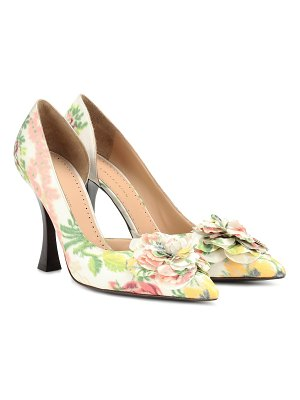Brock Collection exclusive to mytheresa – floral pumps