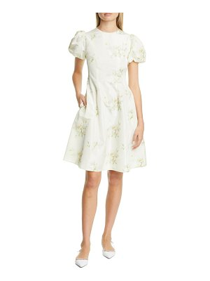 Brock Collection floral print puff sleeve fit & flare dress
