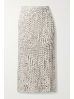 Brock Collection linen and cotton-blend midi skirt
