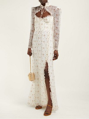 Brock Collection olivia floral print silk organza gown