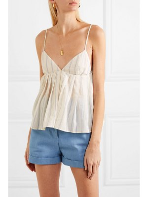 Brock Collection ombrello striped cotton camisole - off-white