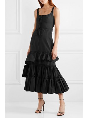 Brock Collection onilde tiered ruffled cotton-poplin maxi dress