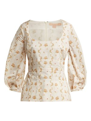 Brock Collection Orrechino Floral Print Panelled Cotton Top