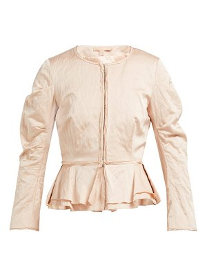Brock Collection orth peplum hammered twill jacket