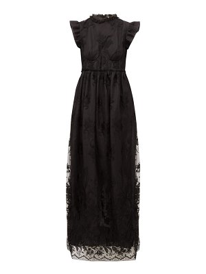 Brock Collection patricia ruffled guipure lace dress