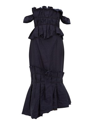 Brock Collection piermaria ruched chambray dress