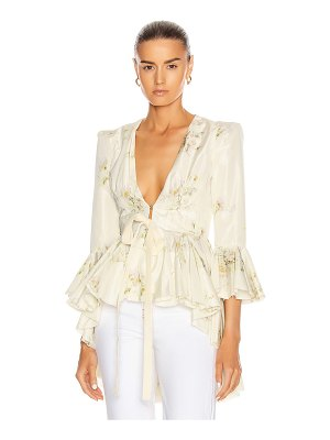 Brock Collection quaid floral ruffle jacket
