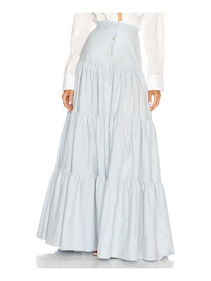 Brock Collection quanika button down maxi skirt